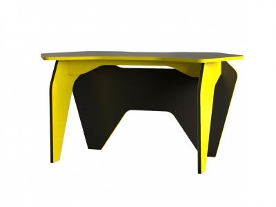 Стол компьютерный 12.63 Базис 2 Черный-Желтый