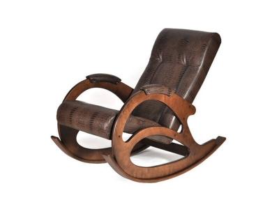 Кресло-качалка К5-1 Экокожа Кроко Коричневая