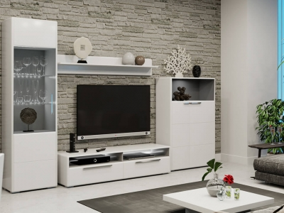 Гостиная Наоми ГН-208.103 Белый глянец