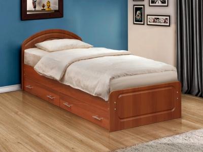 Кровать одинарная Венеция 1 матовая с ящиками