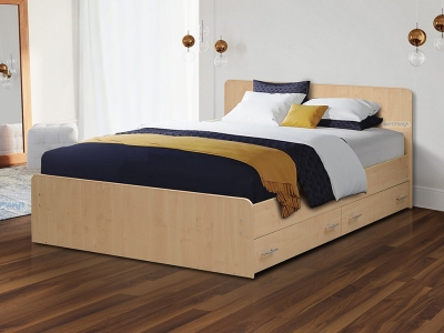 Кровать двойная на уголках №5 с ящиками Матрица