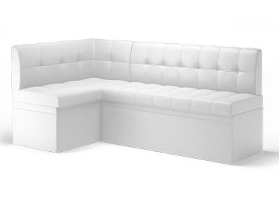 Кухонный диван угловой Остин Эко кожа Reex White