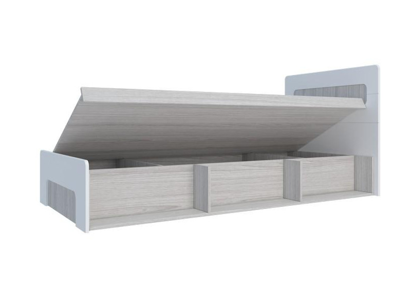 Кровать с подъемным механизмом Палермо-Юниор белый глянец 960х900х2048 мм