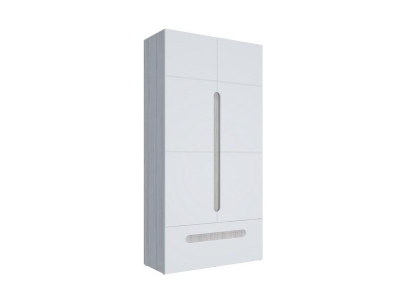 Шкаф 2-х створчатый с ящиками Палермо-3 Юниор белый глянец 1068х2078х381 мм