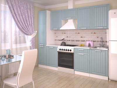 Кухонный гарнитур Прованс Роялвуд голубой 2500