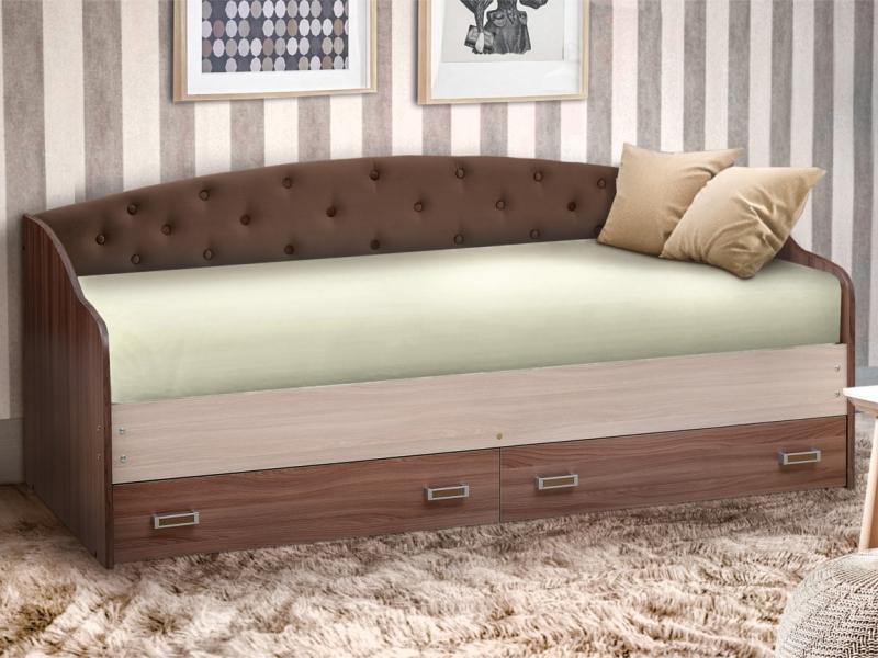 Кровать Софа No 8 Ясень шимо темный-ясень шимо светлый