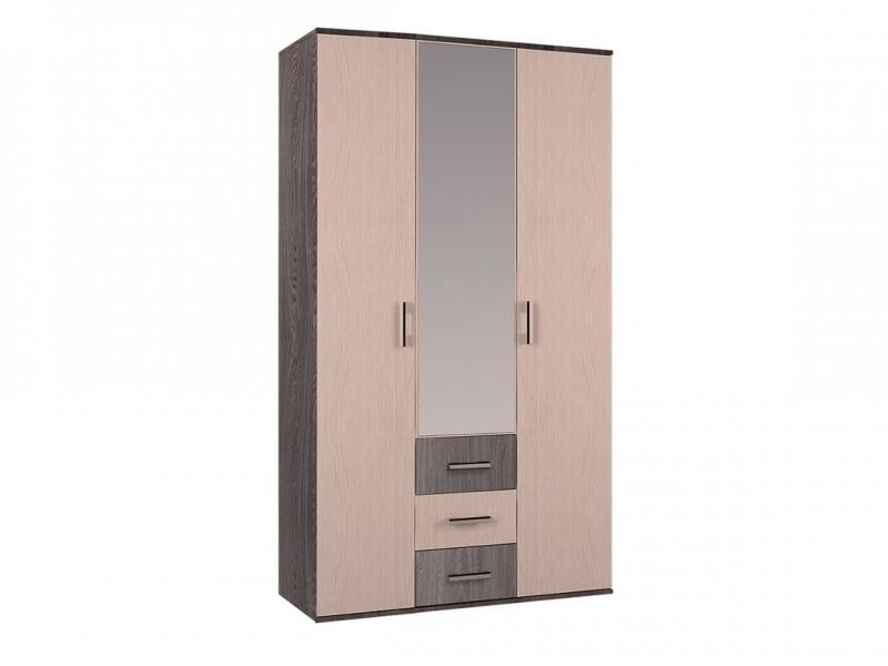 Шкаф 3-х створчатый Белла 2120х1200х470 ясень шимо/дуб атланта