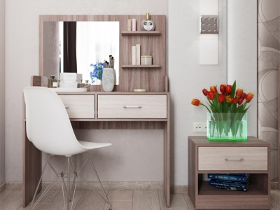 Стол туалетный СТ-2 с зеркалом МС Соната