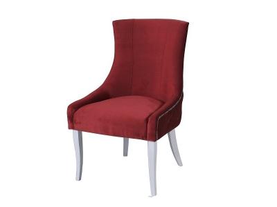 Кресло Марцио бордо опоры белые
